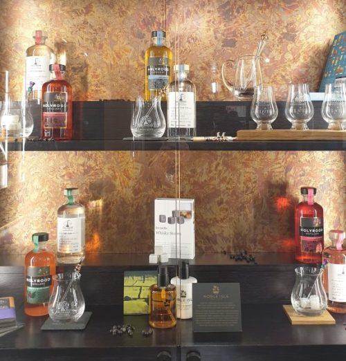 Gift shop at Holyrood Distillery