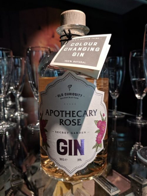 `Our first gin: Apothecary Rose. Already an Old Curiosity classic.