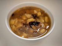 Dried fruit turned into wonderful, soothing soup.