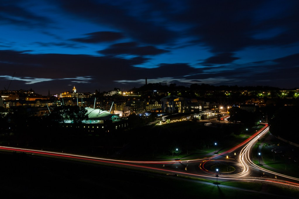 """""""Holyrood Light Trails"""" by Chris Dow"""
