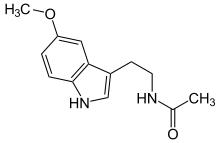 Melatonin Molecule in 3D using Jmol