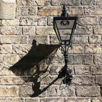 Gloucester Lane - lamp post and shadow
