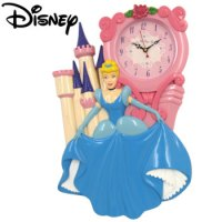 DISNEY CINDERELLA CASTLE WALL CLOCK
