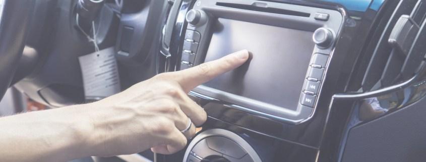 In-car radio dial