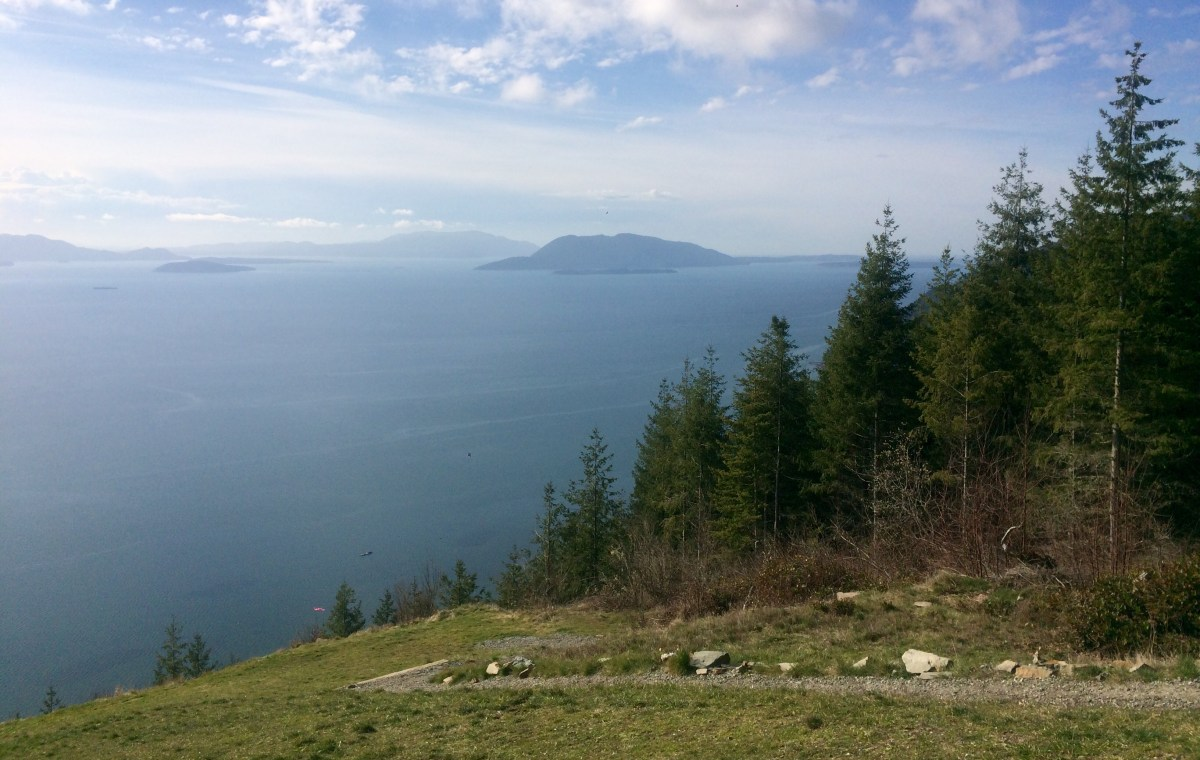 The view of the San Juan Islands from Samish Overlook