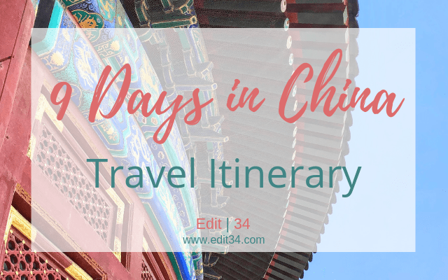 China travel itinerary