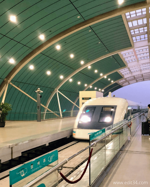 Shanghai maglev train china travel itinerary