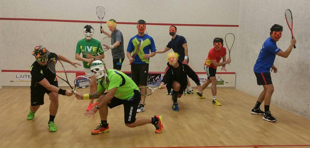 halloween pe terenul de squash