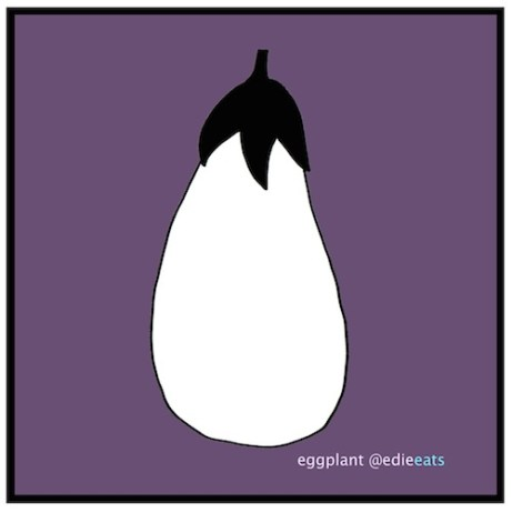 Malijano or Malidjano is a popular eggplant spread in Macedonia. Here's my recipe for it! EGGPLANT-illustration and recipe by EDIE EATS by Edith Dourleijn