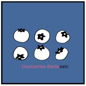 RECIPE Fruity Oat Bars - blue berry -iillustration - edie eats food blog by Edith Dourleijn-small