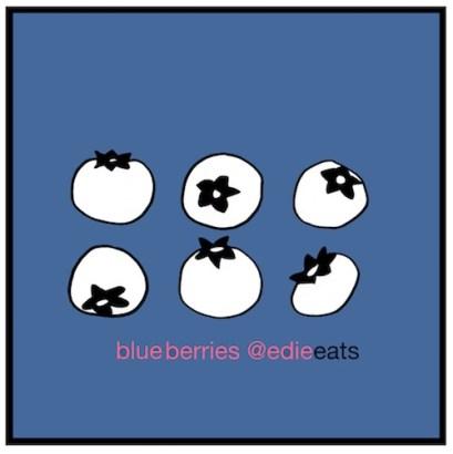 RECIPE Fruity Oat Bars - blue berry -iillustration - edie eats food blog by Edith Dourleijn-small