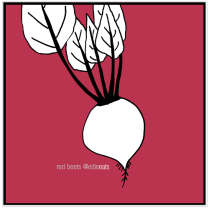 Roasted beet risotto with goat cheese and walnuts RECIPE RED BEETS illustration and recipe by EDIE EATS Food Blog by Edith Dourleijn