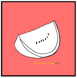 recipe Watermelon Tomato Salsa - watermelon - illustration EDIE EATS by Edith Dourleijn