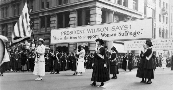 Suffragette parade during Wilson administration.