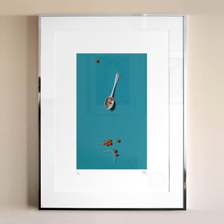 """Photograph of framed print of """"RedcurrantTeaspoon"""" by David Paul Gleeson"""