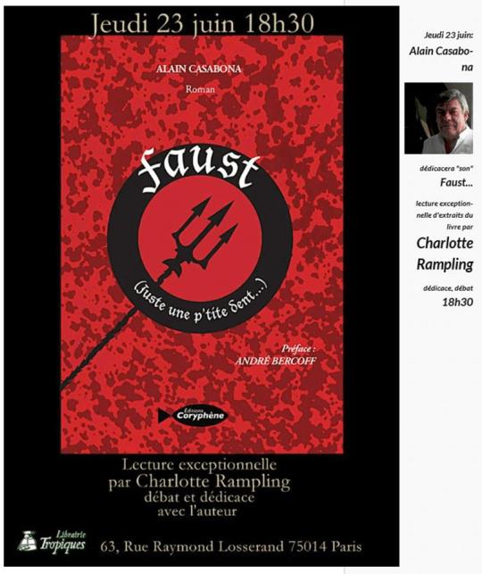 Faust d'Alain Casabona lu par Charlotte Rampling