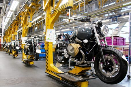 BMW motorrad chaine de production