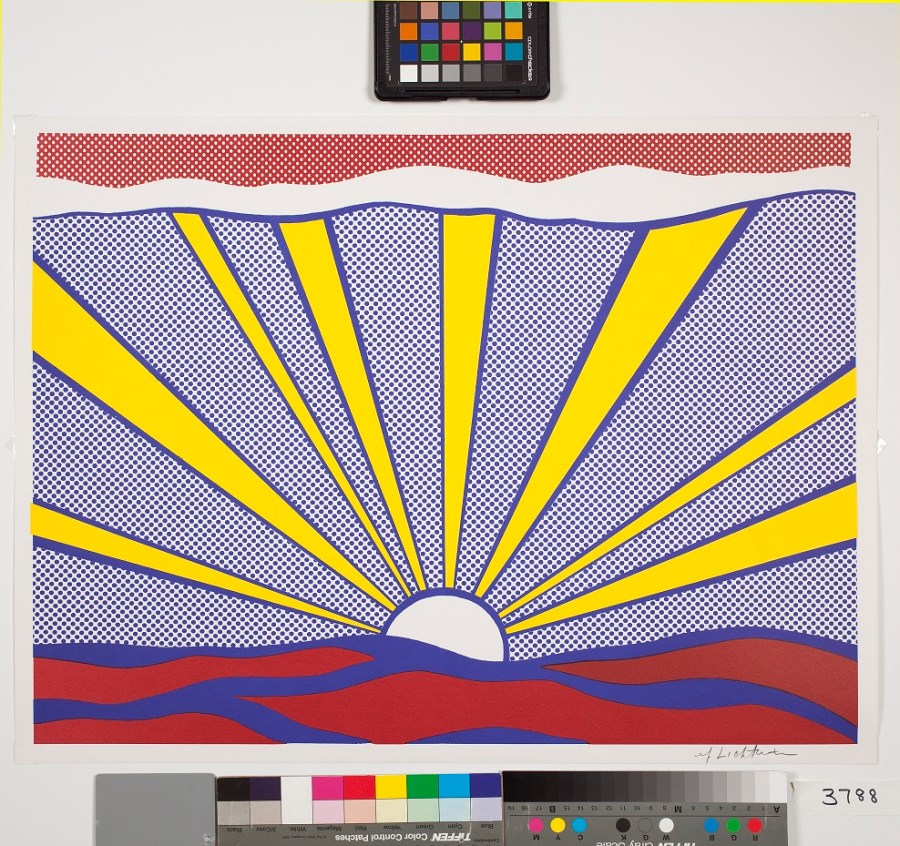 roy lichtenstein sun