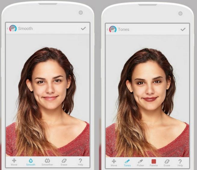 Editor de fotos maquillaje virtual con facetune