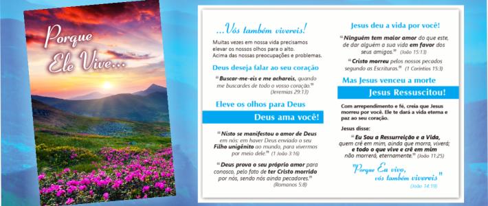 Jesus Ressuscitou! Folheto Especial de Páscoa