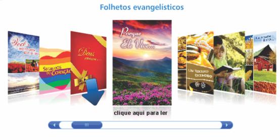 Folhetos para evangelismo com mensagens claras da salvação em Jesus.