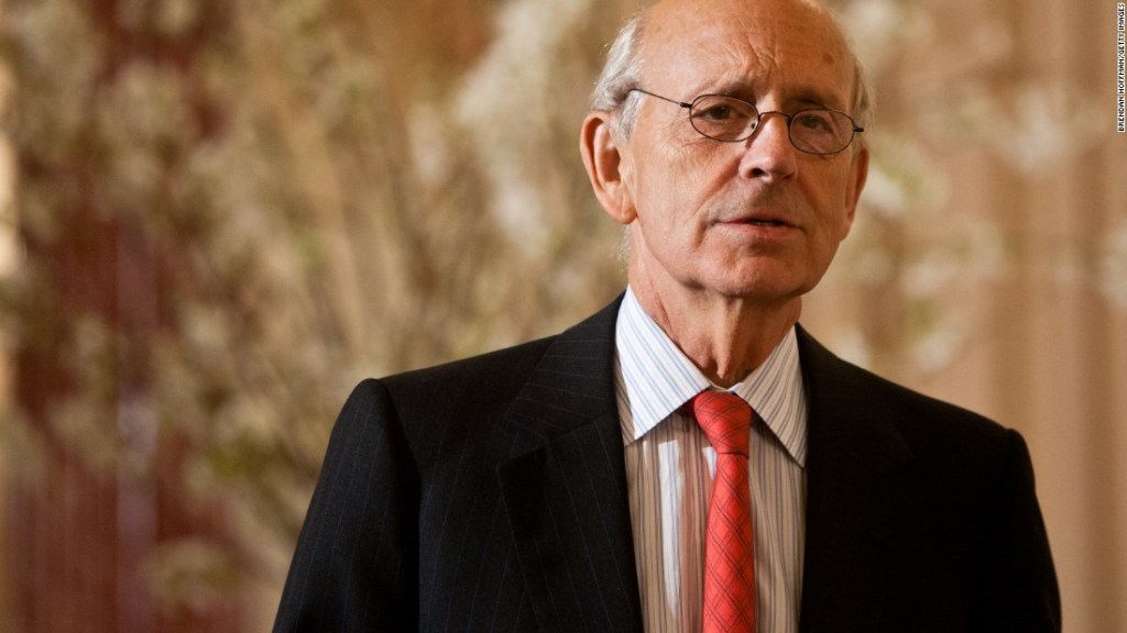 Justice Breyer, will you please retire now please?