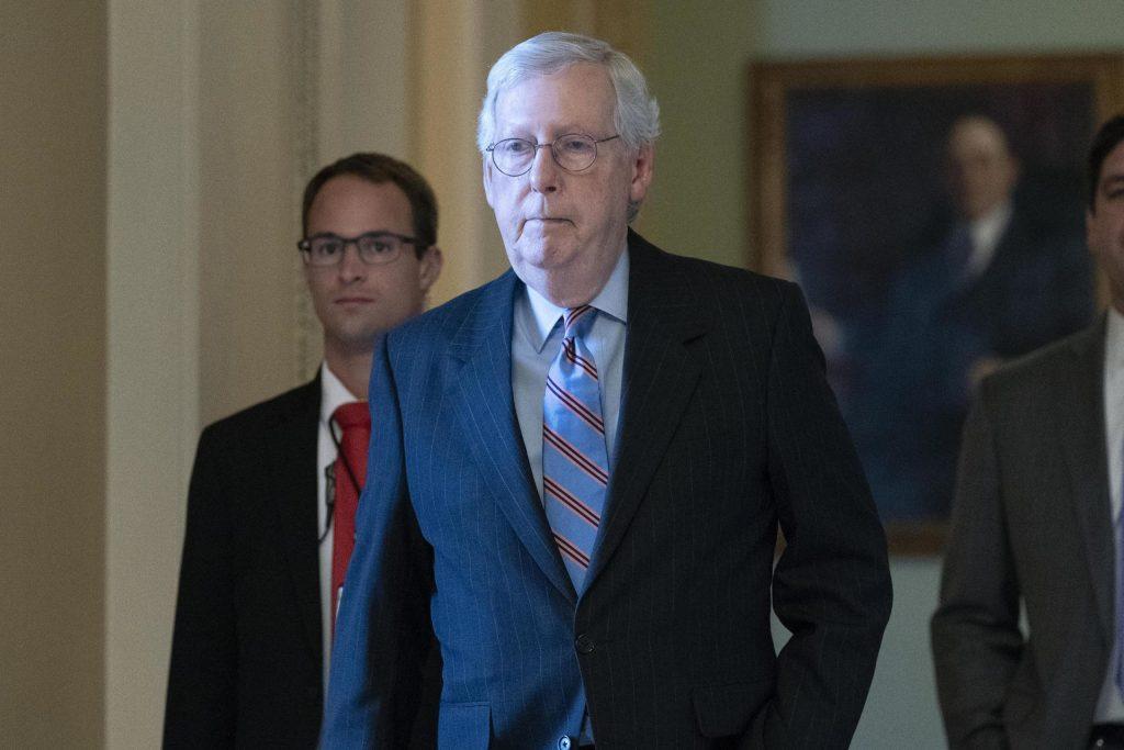 Senate Minority Leader Mitch McConnell.