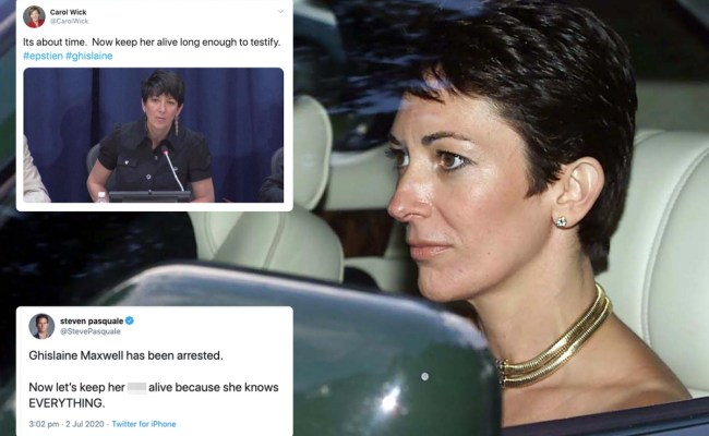 Ghislaine Maxwell Arrest Pleas To Not Let Her Kill