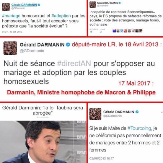 Gérald Darmanin, le ministre homophobe de l'action et des comptes publics