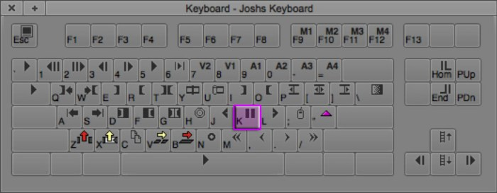 Pause Keyboard Shortcut in Avid