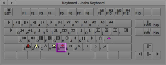 Overwrite Keyboard Shortcut (B)