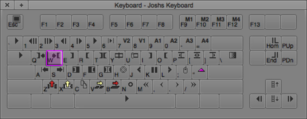 Go to Out Point keyboard shortcut in Avid