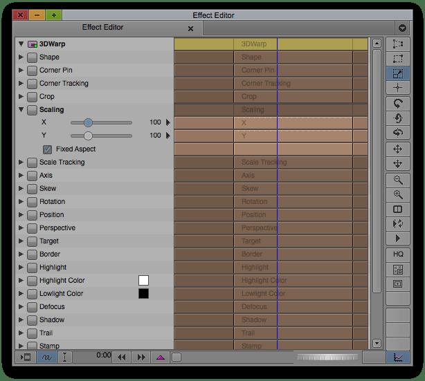 3D Warp Effect in Avid's Effect Editor