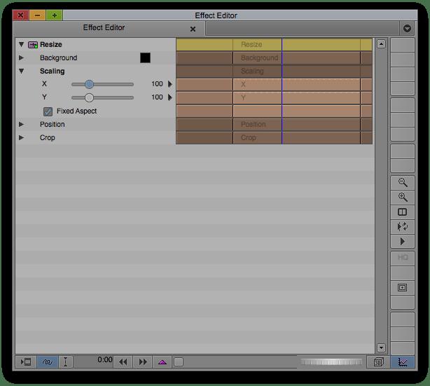 Resize Effect in Avid's Effect Editor