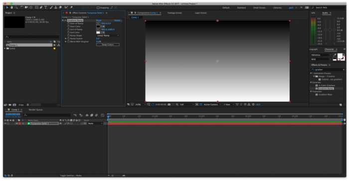 Applying Gradient Ramp to Solid in After Effects