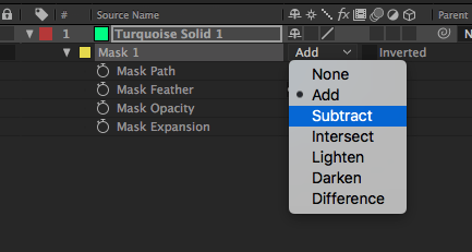 Mask Parameters and Modes in After Effects