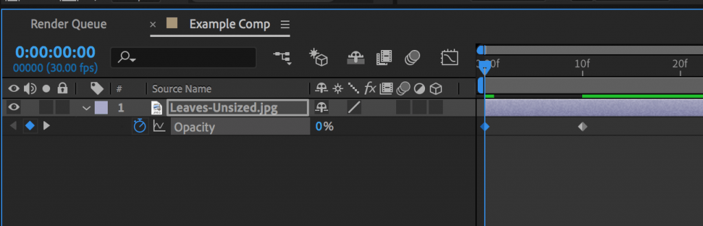 Creating a fade in on a layer in After Effects