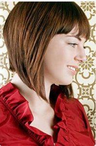 asymmetrical bob hair