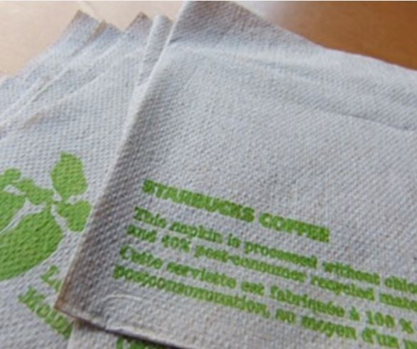 Starbucks napkins