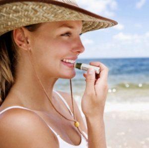 Lip balm beach