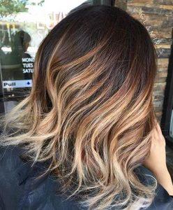caramel-blonde balayage