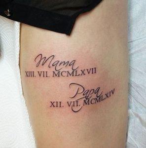 mama, papa tattoo