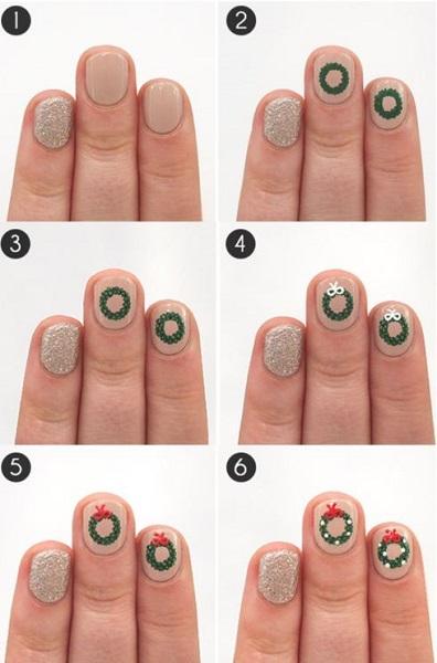 christmas nail art tutorial