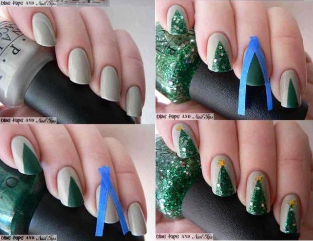 xristougenniatiko dentro nail art