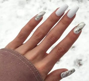 mix of textures and prints for nails