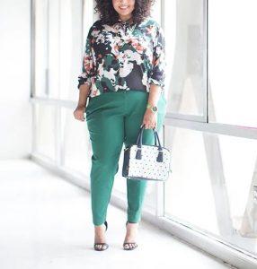 πράσινο παντελόνι ίσια γραμμή