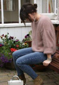 ροζ μάλλινο πουλόβερ χρώματα χειμώνα