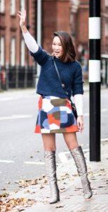 χειμερινά γυναικεία outfits με φούστα