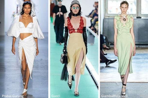 καλοκαιρινά γυναικεία outfits με φούστα