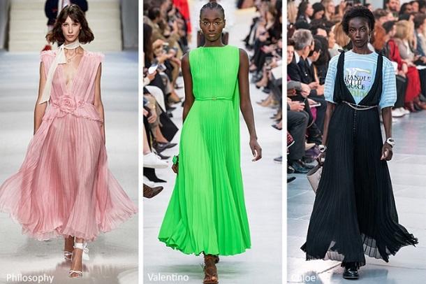 πλισέ φορέματα φούστες Άνοιξη Καλοκαίρι 2020